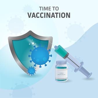 Concetto di vaccinazione dalla protezione covid 19.