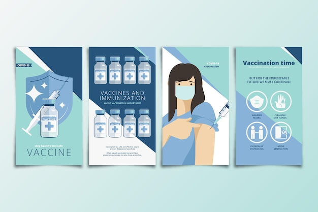 Raccolta di storie di instagram di vaccinazione