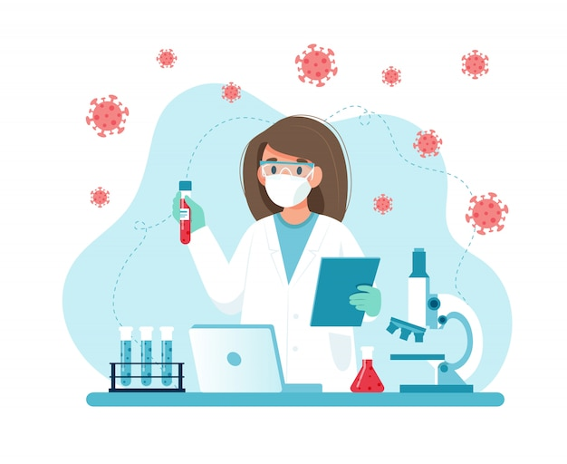 Ricerca sui vaccini, scienziata che conduce esperimenti in laboratorio