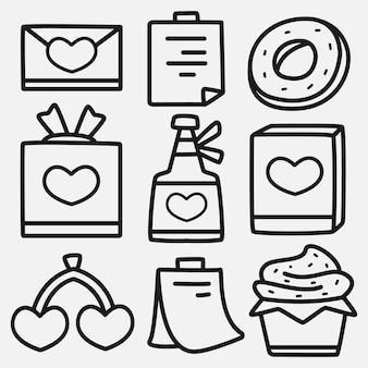 Il disegno di doodle del fumetto di valentin