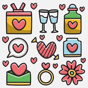 Illustrazione di progettazione di scarabocchio del fumetto di kawaii di valentin
