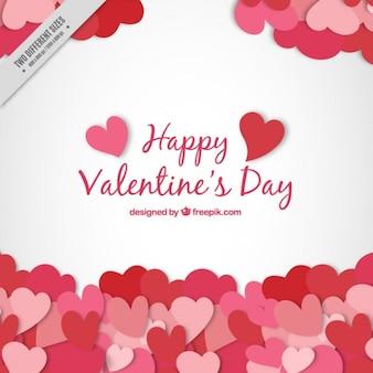 Sfondo san valentino con cuori Vettore Premium