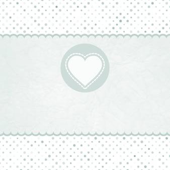 Carta di san valentino con il cuore.