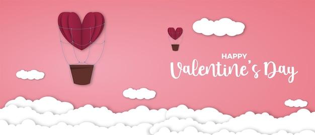 Carta di san valentino con cuore rosso.