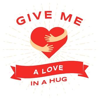 Modello di biglietto piatto giorno di san valentino. 14 febbraio, congratulazioni per le vacanze romantiche