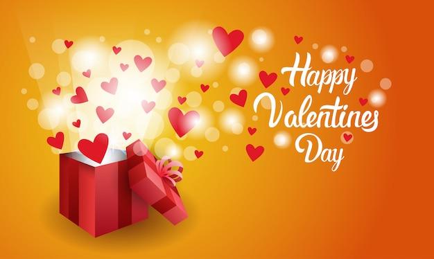 Insegna di forma del cuore di amore di festa della carta del regalo di valentine day con lo spazio della copia