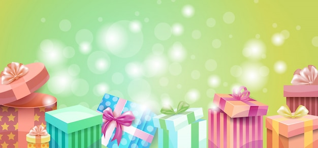 Insegna variopinta del contenitore di regalo del presente di amore di valentine day gift card holiday