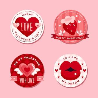 Modello di etichetta di san valentino