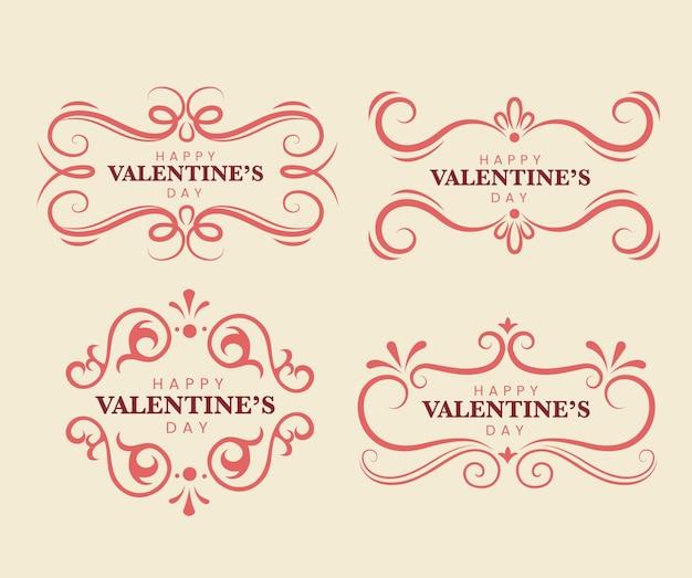 Etichette di san valentino