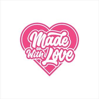San valentino realizzato con logo di amore