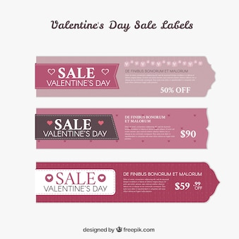 Etichette san valentino confezione di vendita