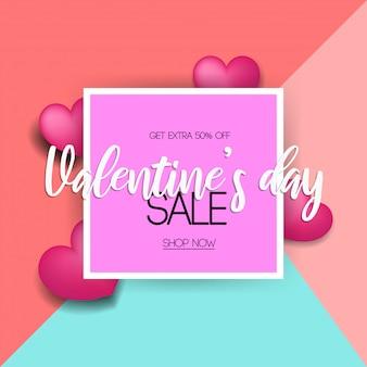 Fondo di vendita di giorni di san valentino