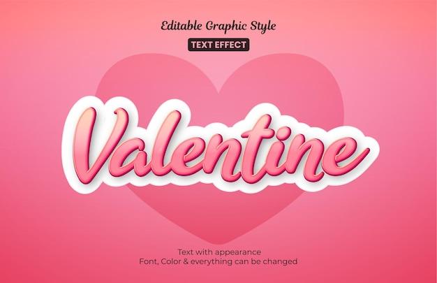 Effetto di testo modificabile di san valentino