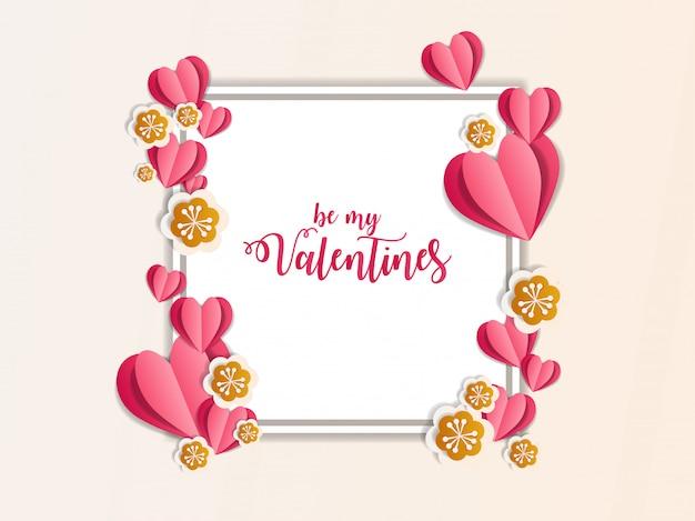 Illustrazione di arte di carta ornamento di san valentino