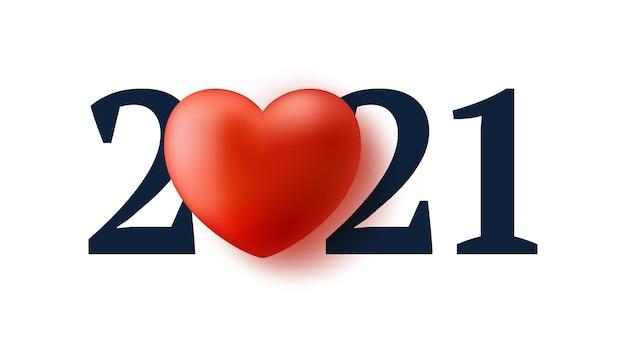 San valentino 2021 con cuore rosso