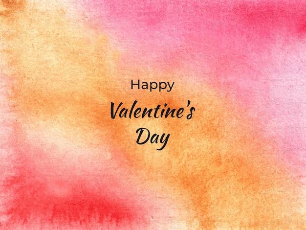 Fondo di struttura dell'acquerello morbido colorato astratto di san valentino