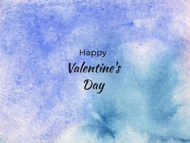 Trama di sfondo acquerello astratto di san valentino Vettore Premium
