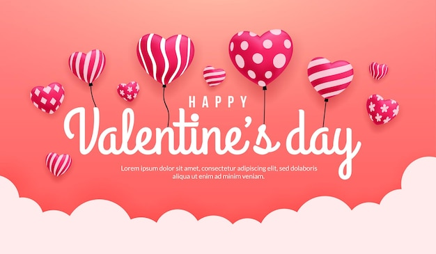 Cuori adorabili del fondo di san valentino con differenti modelli