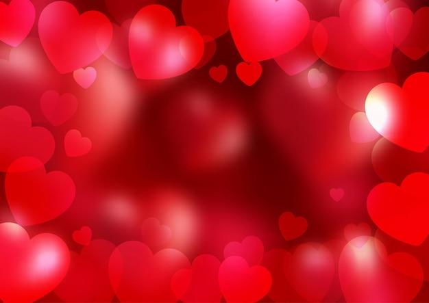 Sfondo di san valentino con bordo di cuori