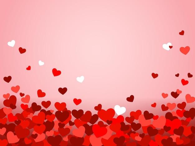 Sfondo di san valentino con cuori