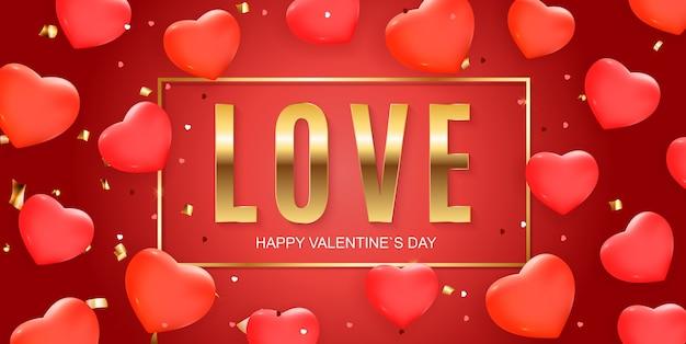 Sfondo di banner di san valentino