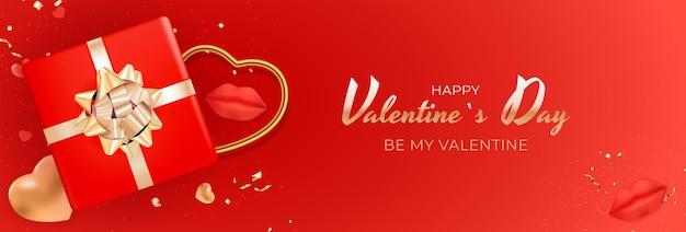 Banner di san valentino design.