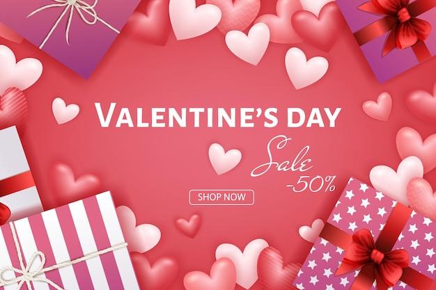 Vendita e sconto di banner di san valentino
