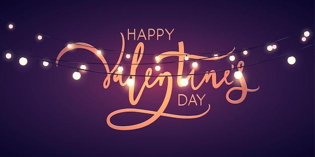 Disegno di carta di san valentino con luci