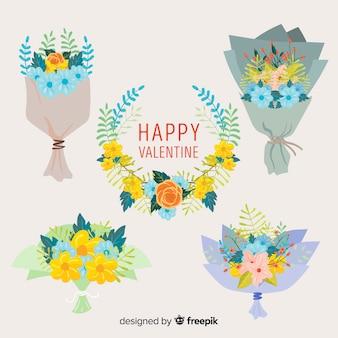 Ghirlande e mazzi di fiori di san valentino