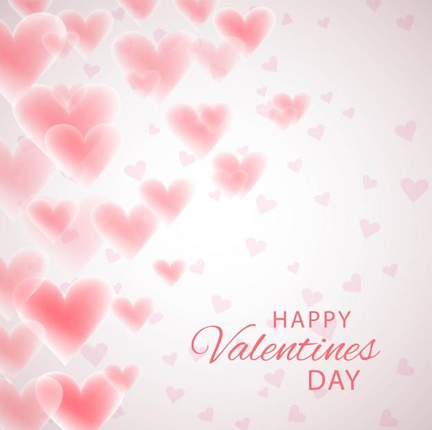 Fondo di forma del cuore di amore di festa della carta del regalo di giorno di valentine;