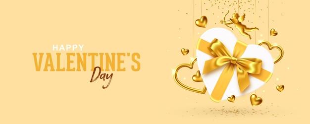 Banner di auguri di san valentino