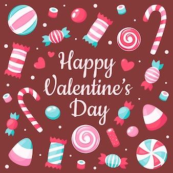Biglietto di auguri di san valentino. dolci di san valentino