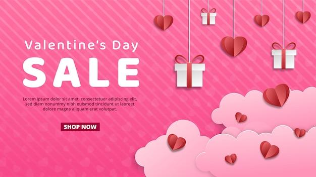 San valentino cuore vendita banner modello di progettazione