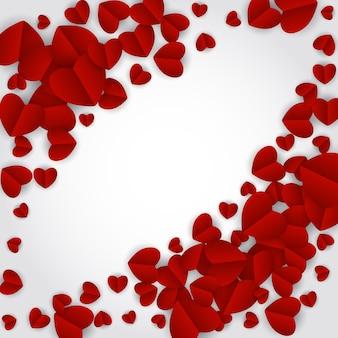 Simbolo del cuore di san valentino. disegno di sfondo di amore e sentimenti. illustrazione vettoriale eps10