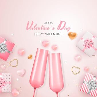 Carta regalo per le vacanze di san valentino