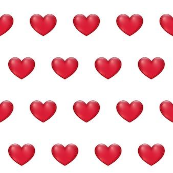 Modello senza cuciture del cuore rosso di san valentino