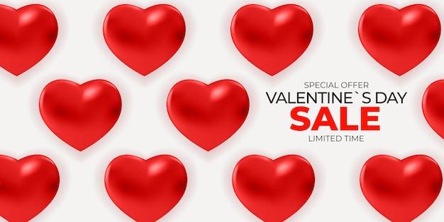 Fondo della bandiera di vendita di san valentino.
