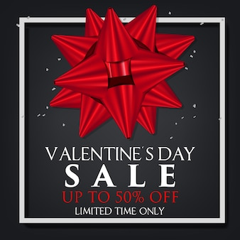Concetto di progettazione di vendita di giorno del `s del biglietto di s. valentino