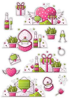 Adesivi di san valentino