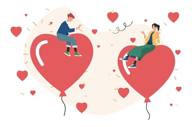 San valentino, lavoro di squadra, grande cuore, simbolo delle vacanze d'amore
