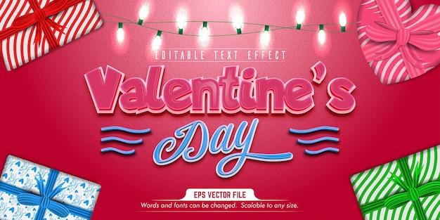 Testo di san valentino, effetto di testo modificabile in stile amore