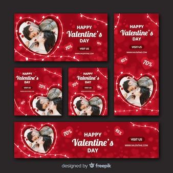 Banner web di san valentino con foto