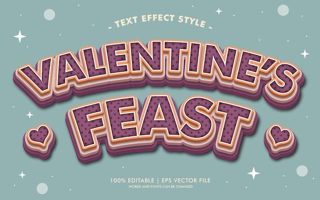 Stile di effetti del testo della festa di san valentino