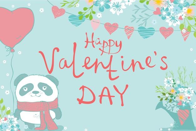 Insieme di vettore disegnato a mano floreale di san valentino. illustrazione vettoriale. perfetto per san valentino, adesivi, compleanni, salva l'invito alla data.