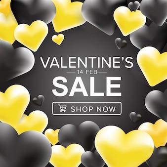 Banner di promozione di san valentino