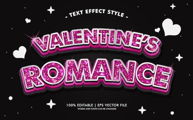 Il testo romantico di san valentino effetti stile