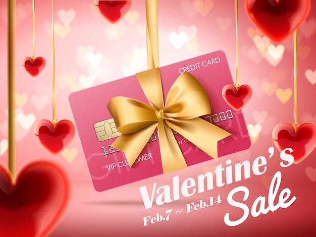 Illustrazione di annunci di vendita di san valentino Vettore Premium