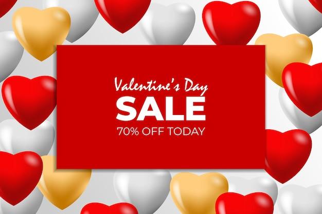 Banner di promozione di vendita di san valentino