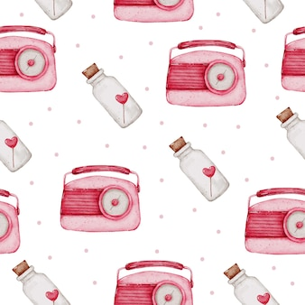 San valentino seamless pattern acquerello