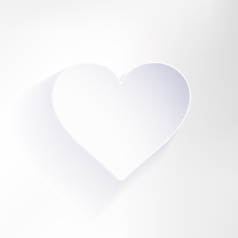 San valentino sfondo con forma di cuore di carta.